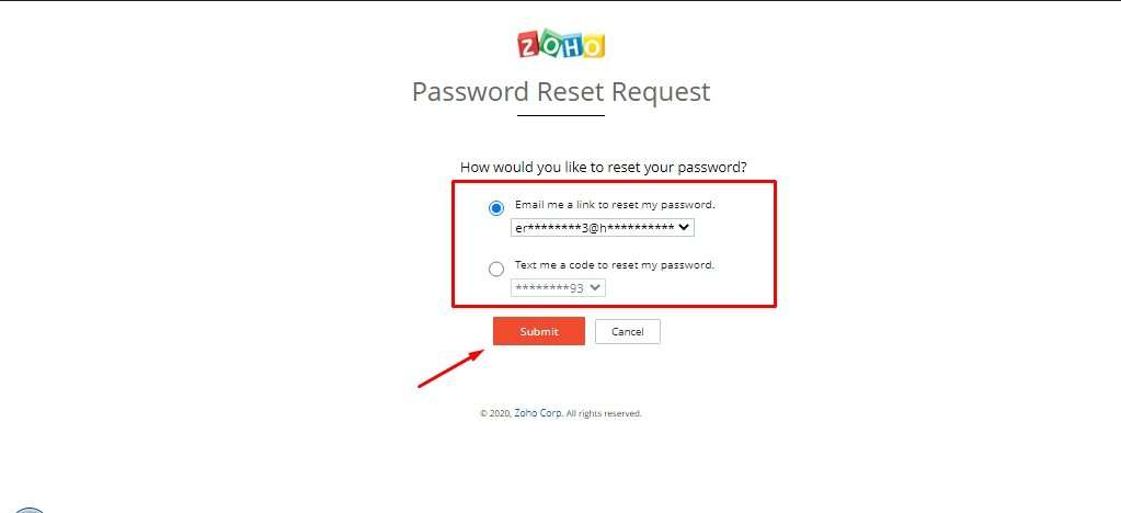 Change Password Zoho Mail